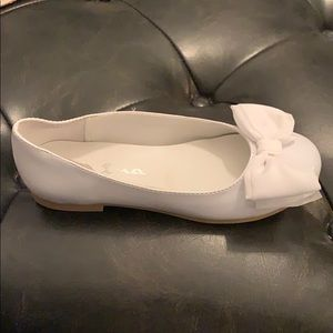 Nina white patent shoes